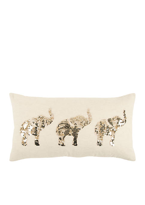 Rizzy Home Elephants Decorative Filled Pillow