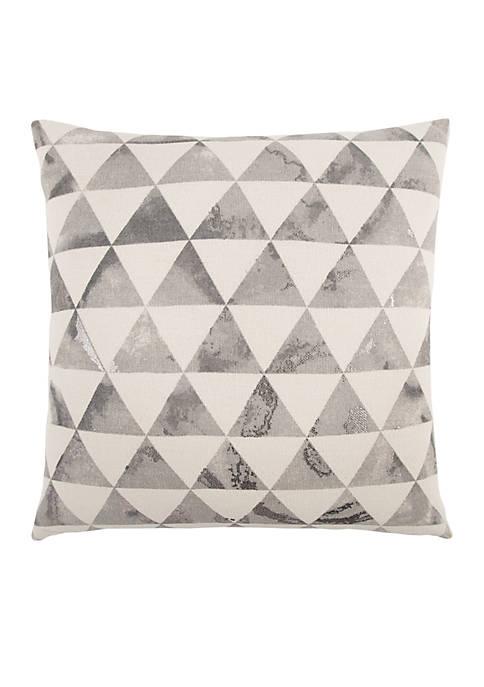 Geometric Grey Decorative Filled Pillow