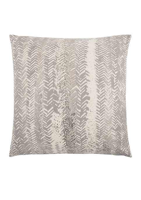 Rizzy Home Vertical Stripe Grey Decorative Filled Pillow