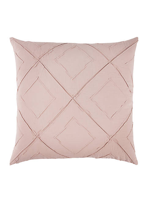 Rizzy Home Deconstructed Diamond Light Pink Decorative Filled