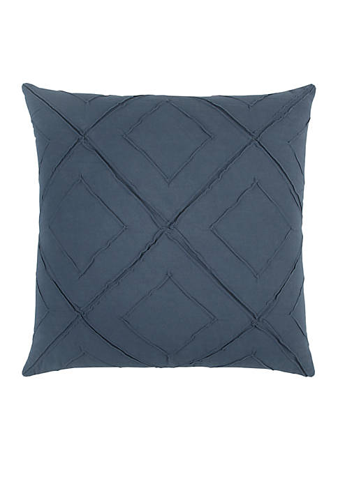 Rizzy Home Deconstructed Diamond Dark Blue Decorative Filled