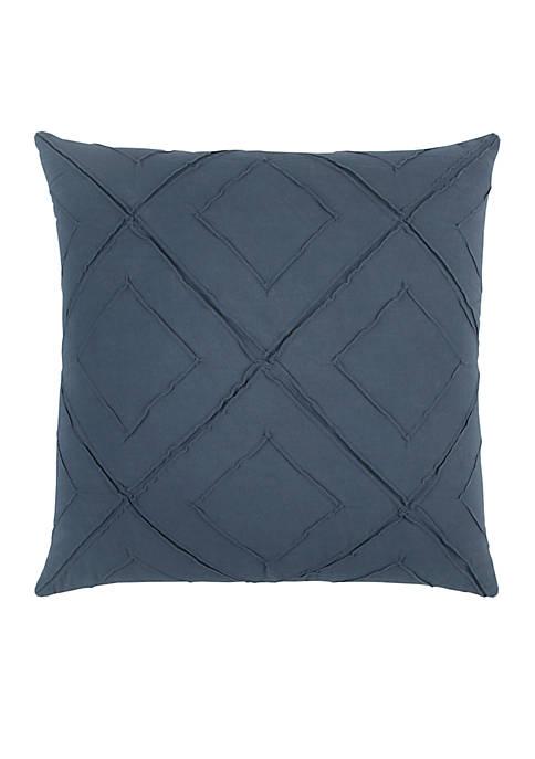 Deconstructed Diamond Dark Blue Decorative Filled Pillow