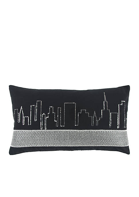 Rizzy Home Geometric Black Decorative Filled Pillow