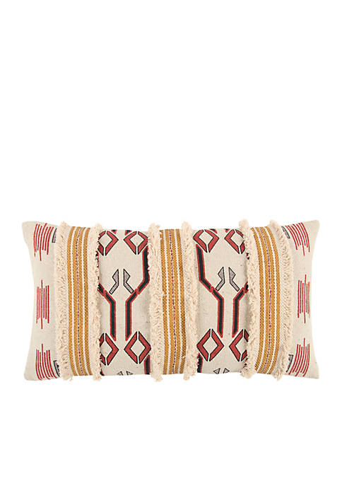 Tribal Yellow Decorative Filled Pillow