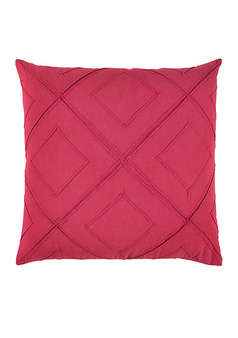 Rizzy Home Deconstructed Diamond Pink Decorative Filled Pillow