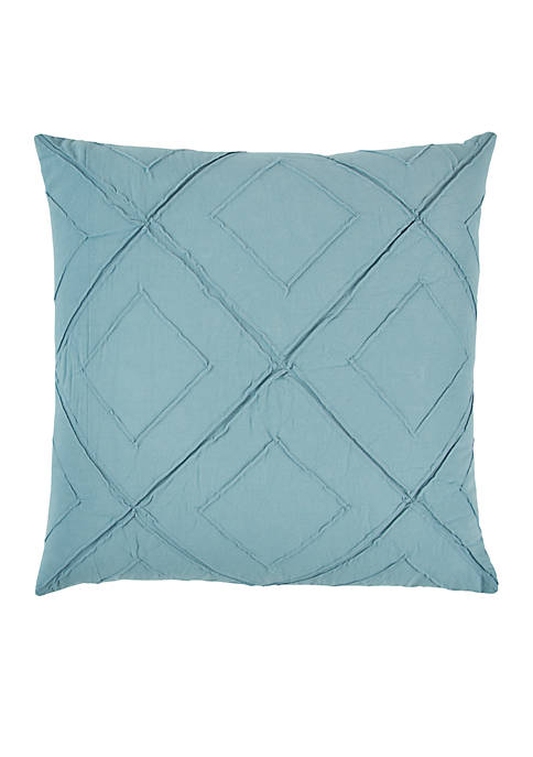 Rizzy Home Deconstructed Diamond Blue Decorative Filled Pillow