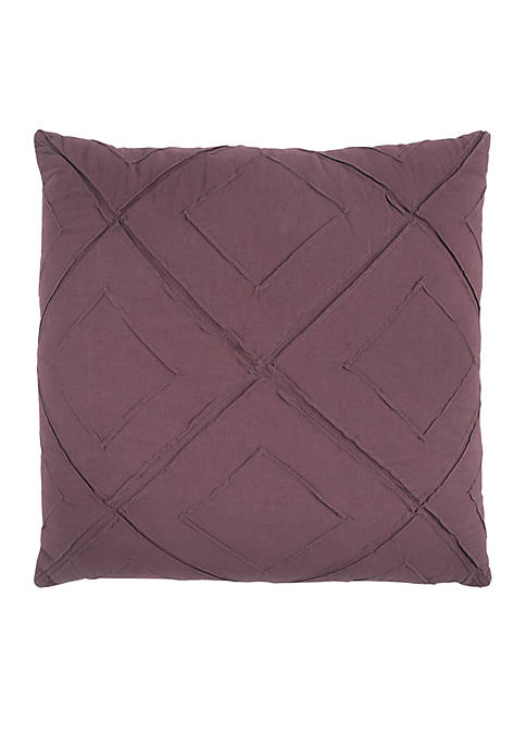 Rizzy Home Deconstructed Diamond Burgundy Decorative Filled