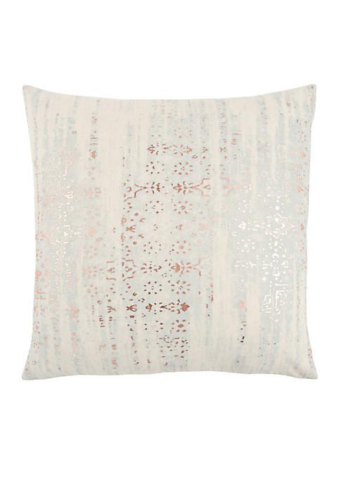 Stripe Gold Decorative Filled Pillow