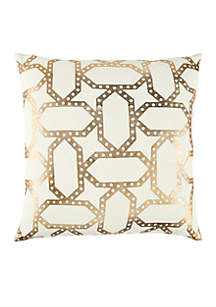 Rizzy Home Geometric Gold Decorative Filled Pillow