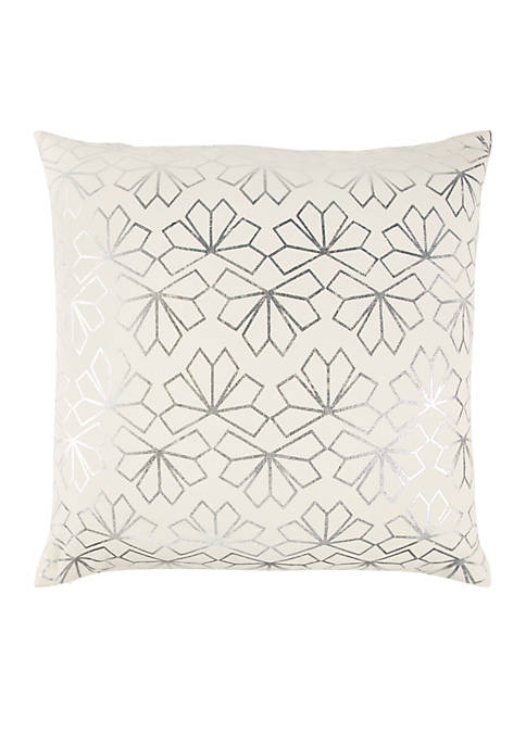 Rizzy Home Geometric Silver Decorative Filled Pillow