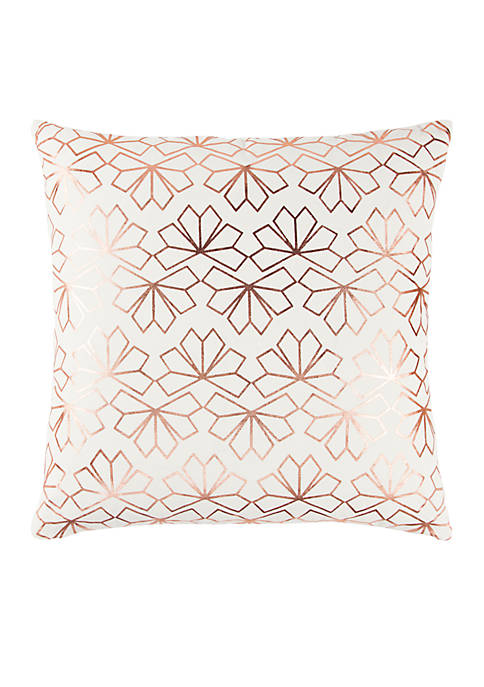 Rizzy Home Geometric Copper Decorative Filled Pillow