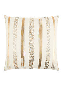 Rizzy Home Stripe Gold Decorative Filled Pillow