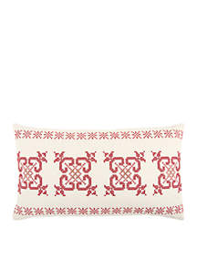 Rizzy Home Geometric Red Decorative Filled Pillow