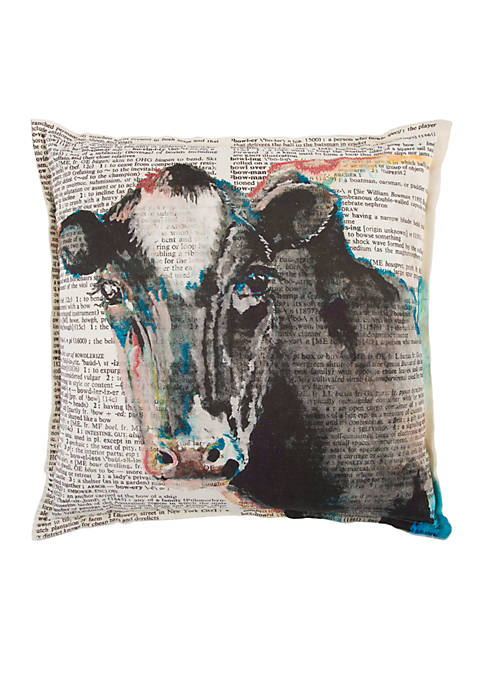Rizzy Home Animal Grey Decorative Filled Pillow