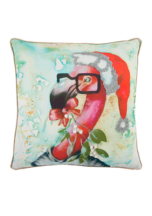 Rizzy Home Flamingo Red Decorative Filled Pillow