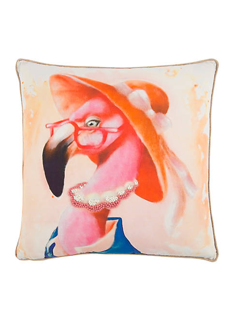 Rizzy Home Flamingo Pink Decorative Filled Pillow