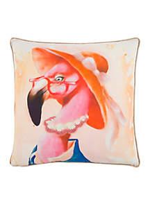 Flamingo Pink Decorative Filled Pillow