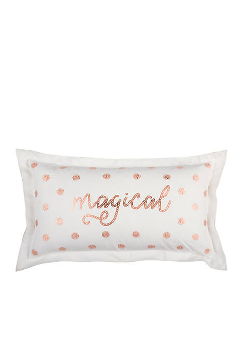 Word Copper Decorative Filled Pillow