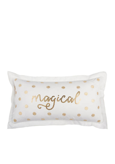Word Gold Decorative Filled Pillow