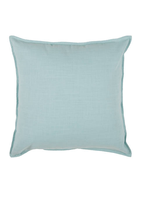 Rizzy Home Solid Aqua Decorative Filled Pillow