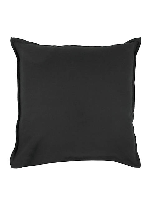 Solid Black Decorative Filled Pillow