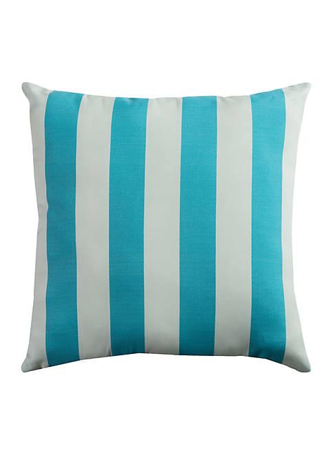 Rizzy Home Finnigan Aqua Decorative Filled Pillow