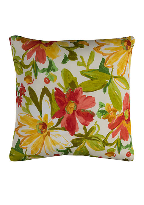 Rizzy Home Elberta Green Decorative Filled Pillow