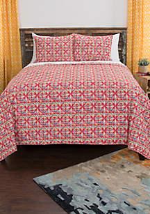 Lilou King Geometric Quilt Set