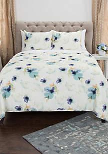 Katrine Floral King 3-Piece Quilt Set