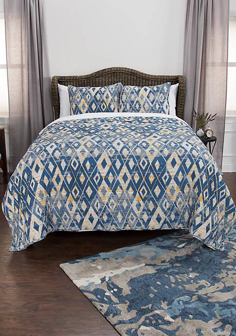 Maddux Place Asher Geometric 3 Piece Quilt Set
