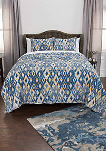 Rizzy Home Maddux Place Asher Geometric 3 Piece Quilt Set