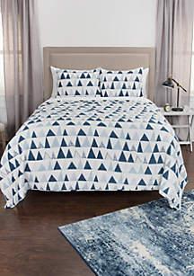 Rizzy Home Maddux Place Flint Geometric 3 Piece Quilt Set