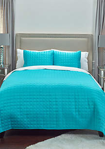 Rizzy Home Satinology Geometrical 3 Piece Quilt Set