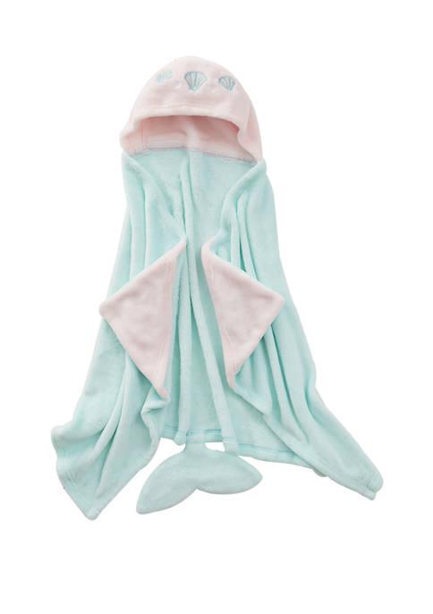 Plush Mermaid Hooded Throw