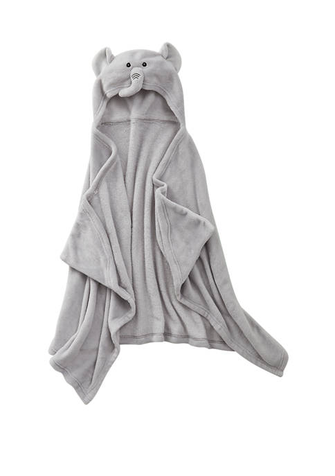 Plush Elephant Hooded Throw