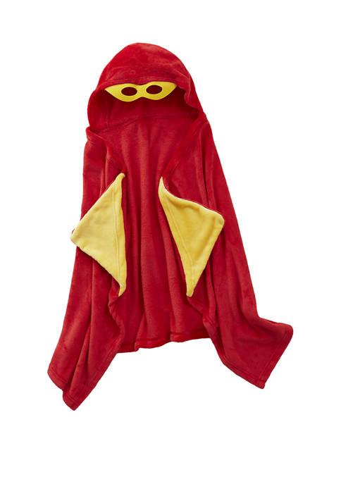 Lightning Bug Plush Supergirl Hooded Throw