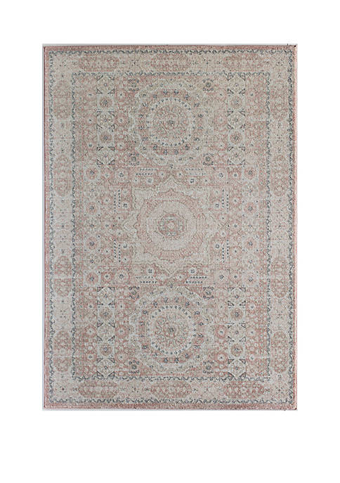 RUGS AMERICA Hailey Pink Lemonade Bath Rug