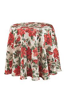 Poinsettia Cardinals Tablecloth