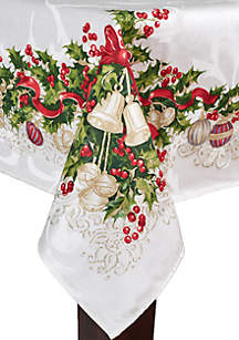 Ornaments And Ribbons Tablecloth