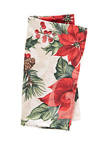 Poinsettia Cardinals Napkin Set