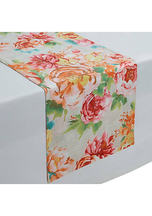 Modern. Southern. Home.™ Dahlia Blooms Table Runner