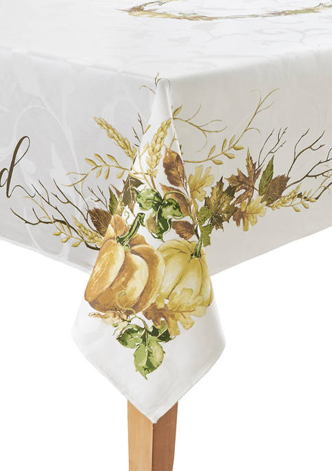 60 in x 84 in Grateful Border Tablecloth