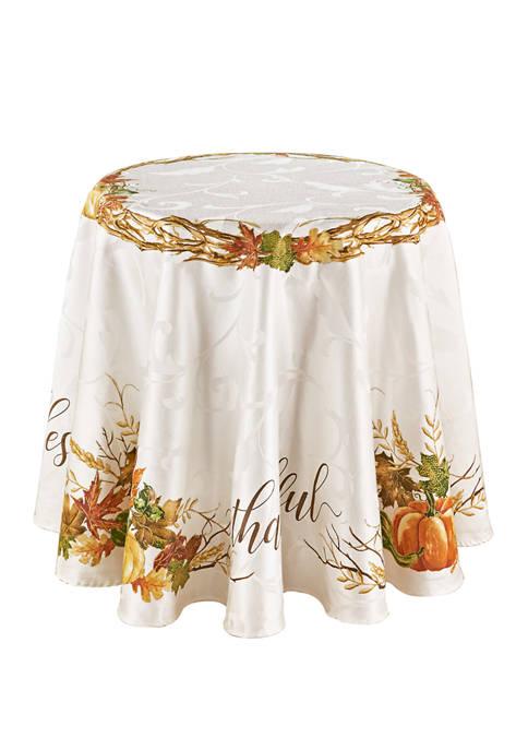 70 Inch Grateful Border Round Tablecloth