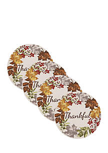 Thankful Braided Round Placemat - Set of 4