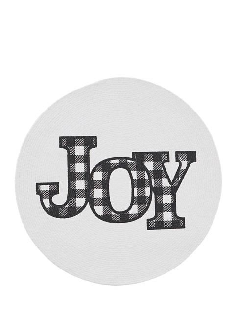 Joy Braid Round Placemat