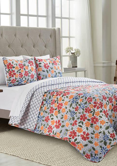 Ditzy Floral Quilt Set