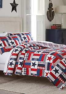 Modern. Southern. Home.™ Bentley Red White and Blue Quilt