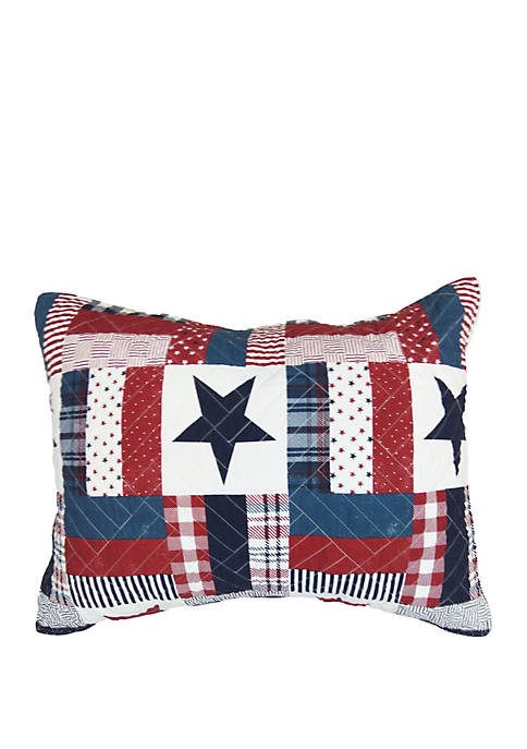 Bentley Red White and Blue Standard Sham