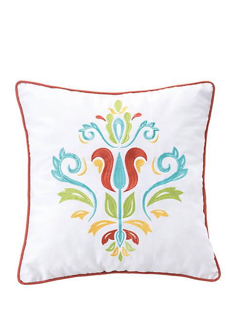 Jasmine Embroidered Pillow