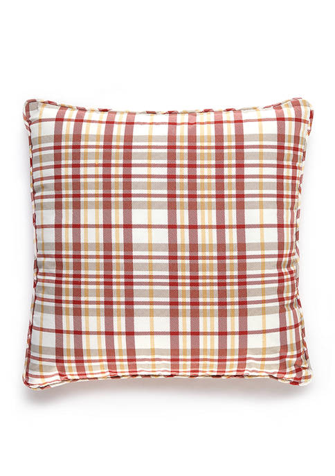 Marilyn Plaid Pillow